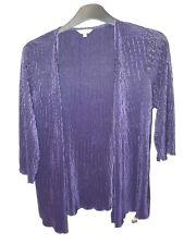 Per Una Size 16 Purple Crinkly Three-quarters Sleeved Cardigan
