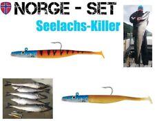 2 Stück Seelachs Killer Set FOX Rage, VMC Hot Tiger u. Gold Shiner je 125g