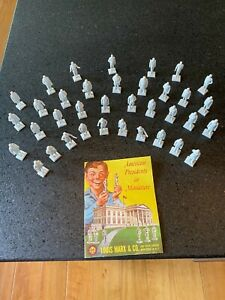 Vintage Marx Toy Miniature Presidents Set 36 Pieces with Book Included!