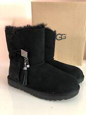 UGG Kids Lillian II Genuine Shearling Boots K/black size 4