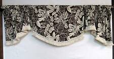 Custom Designer Swag Style Valance PKL Studio fabric pattern Terrarium
