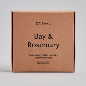 """St Eval """"Bay & Rosemary"""" Scented Tealights TWO packs of 9."""