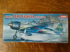 New ListingAcademy A6M5c Zero Fighter 1:72 Model Aircraft Kit circa 1998