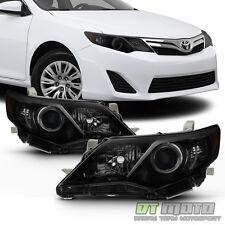 [Update Black Smoke] 2012 2013 2014 Toyota Camry Headlights Headlamps Left+Right