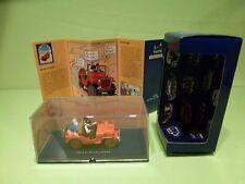 TINTIN HERGE 7 WILLYS MB CJ2A JEEP - AU PAYS DE L'OR NOIR 1950 - MINT IN BOX