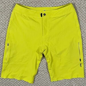 Club Ride Mens Crush Shorts Cycling Biking Polyester Spandex Neon Yellow Size L