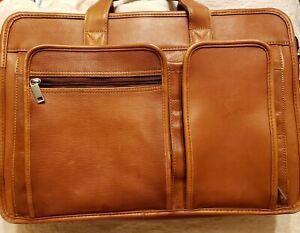 Vintage Wilson Leather Men's Messenger Bag Briefcase Laptop Shoulder Brown