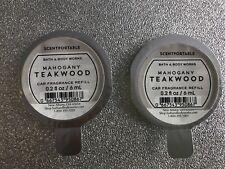 Bath And Body Works Scentportable Refill Mahogany Teakwood Air Freshener X 2 New