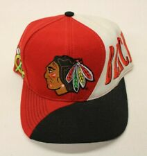 Vintage 90s Chicago Blackhawks Snapback Hat Cap NHL