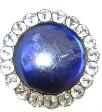Blue Paste Brooch- Hidden Picture Georgian Silver Black Dot Paste+ Bristol
