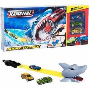 "Teamsterz Shark Attack track set  includes 3 x 3"" cars        UK Seller"
