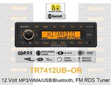 12 Volt Bluetooth PKW Auto Radio, RDS-Tuner, MP3, WMA, USB, 12V TR7412UB-OR