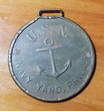 Philadelphia Navy Yard USN United States Navy PA Ship Building Badge Pin WWII
