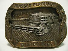 1985 Massey Ferguson 8590 Rotary Combine Belt Buckle Limitd Ed 4th in Series mf