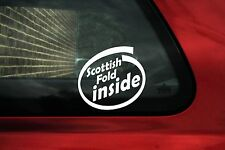 Scottish fold inside sticker x2.For Scottish fold cat owners