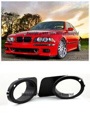 For 99-03 BMW E39 M5 Bumper OE Style Fog Light Cover ABS Plastic Black Euro