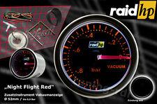 Raid hp Nightflight RED Kraftstoff Eco Verbrauchs Anzeige Zusatz Instrument 52mm