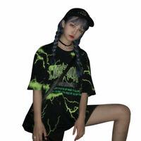 Harajuku Lightning T-Shirt Shirts Short Sleeve Summer Round Neck Basic Tee Tops