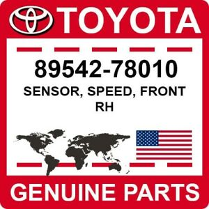 89542-78010 Toyota OEM Genuine SENSOR, SPEED, FRONT RH