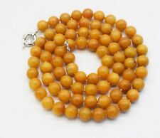 """yellow topaz  10mm round necklace 35"""" nature  wholesale beads discount"""