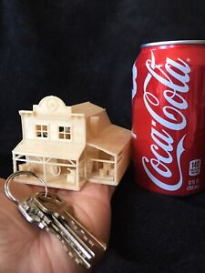 Gold Rush Bay N Scale Miniature Blacksmith Shop Wood Color Built +Interior 1:150