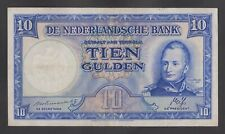 NETHERLANDS  10 Gulden 1945 VF  P75a  Date at right 1788-1843 (incorrect)