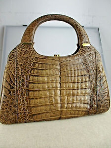 Vintage Tasche Krokoleder Damentasche Crocoledertasche Tasche Kroko VIPYB-08