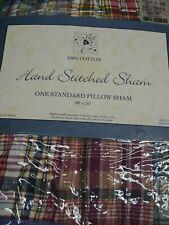 "Hand Stitched Sham one standard pillow sham 20""x26"" 100%cotton(2pillow shams)"