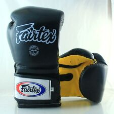 FAIRTEX GLOVES MUAY THAI KICK BOXING MMA BGV9 BLACK YELLOW PRO TRAINING MEXICAN