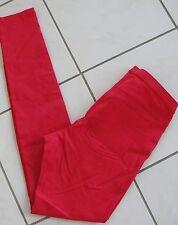 NWT $44 Hue Women Sleek Stretch Skinny Leggings U14313 Kiss Red Sz S