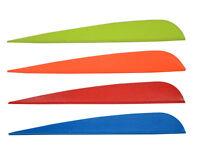 50pcs 4 inch Archery Arrow TPU Vane Fletches Plastic Fletch Hunting Bow Colorful