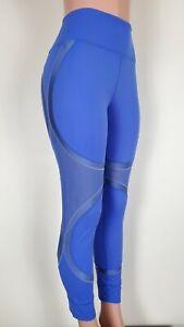 FABLETICS Define Mesh & Shine Royal Blue Leggings Full Length High Waisted XL