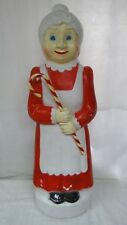 """40"""" Union Don Featherstone Mrs. Claus Lighted Christmas Blow Mold Outdoor Yard"""
