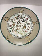 Christian Dior Cloisonné Chop Plate/Round Platter Floral Bird Butterfly Discont