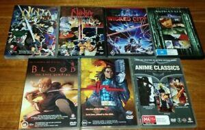 9 x ANIME COLLECTION DVD Lot Ninja scroll Sin Wicked City Blood Animatrix Japan