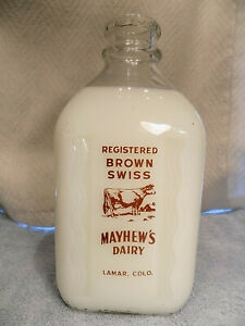 Mayhew's Dairy Two Color Pyro Half Gallon TSPHG from Lamar, CO Excellent!
