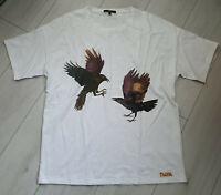 Tigha Herren Oversize  T-Shirt mit Print Weiß   Größe M