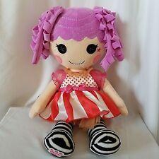 Build A Bear Lalaloopsy Plush Doll Peanut Big Top Black & White Stripes Purple
