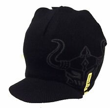 Warrior International Helmets All Over Reversible Billed Beanie Ski Hat New MMA