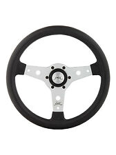 "CLASSIC SPORT STEERING WHEEL 340mm 13.4"" LUISI ""FALCON"" SILVER MADE IN ITALY"