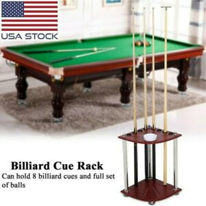 32x32x53cm YJTQJ Snooker Billiard Cue Rack,High Density Board Floor Stand Pool Cue Racks 12 Holes Rod Accessories Supplies Billiard Table Rack//Mahogany