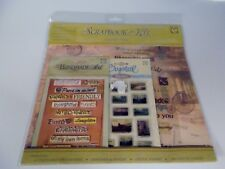 Vacation Time Scrapbook Kit Dimensional & Crystal Decorative Stickers Paper