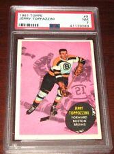 1961 Topps #9 Jerry Toppazini PSA 7 Boston Bruins