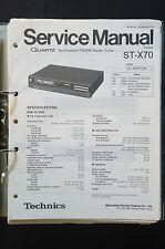 Technics st-x70 FM/AM Tuner ORIGINAL SERVICE MANUAL/Service-manuel/schéma de branchement