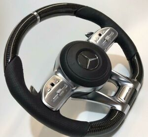 Mercedes-Benz W222 C217 AMG Performance Leather & Carbon Fiber Steering Wheel