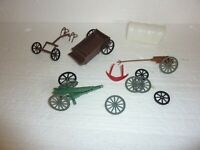 Vintage Lot of Plastic Wagon parts  S-35