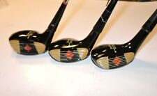 Spalding Tee Flite Driver, 3, & 5 wood set vintage golf clubs RH fancy face