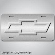 Chevy Bowtie Bow Tie Aluminum License Plate Tag New Unique Design