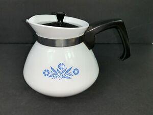 Vintage Corning Ware Blue Cornflower 6 Cup Tea Pot with Lid