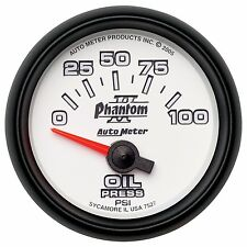 AutoMeter 0-100 PSI Phantom II Analog Oil Pressure Gauge * 7527 *